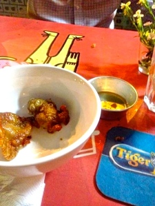 Deep fried, salty, vinegary goodness. Mmmmmmm!!! Delicious!!!